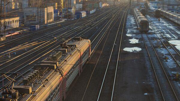 Железнодорожный вокзал. Архивное фото