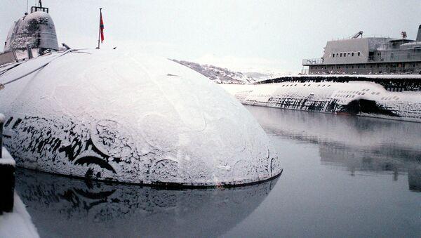Российская атомная подводная лодка. Архивное фото