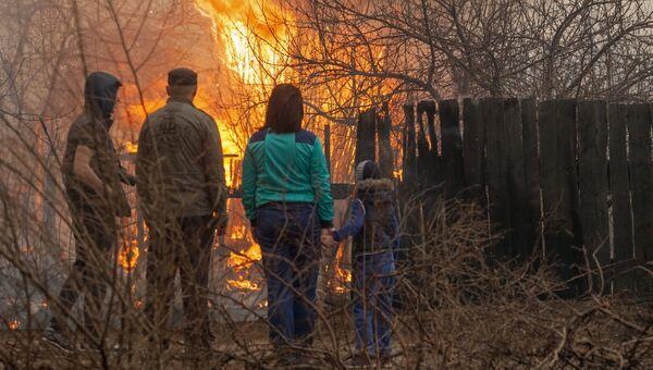 Пожары в Хакасии. Архивное фото