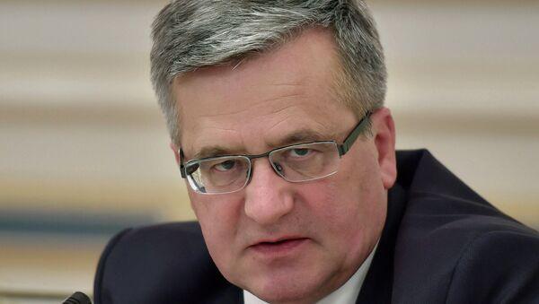 Президент Польши Бронислав Коморовский. Архивное фото