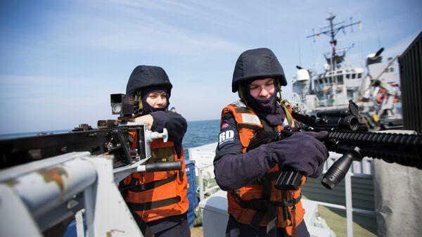 Норвежские военные в Балтийском море. Архивное фото.
