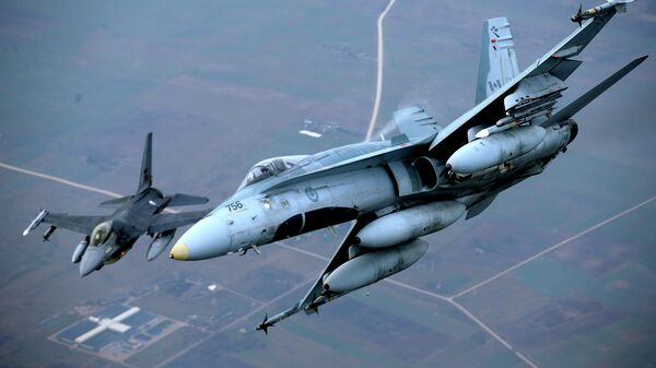 Самолеты НАТО в воздушном пространстве Литвы
