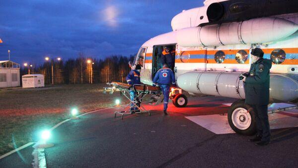 Пострадавших в ДТП в Ленинградской области вертолеты МЧС России доставили в Петербург