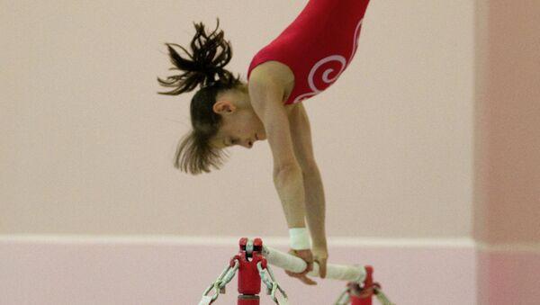 Мария Харенкова во время тренировки. Архивное фото