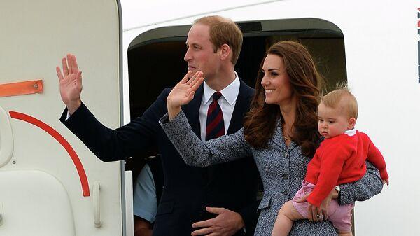 Начало тура Кейт Миддлтон и принца Уильяма с сыном по Новой Зеландии