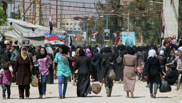 Лагерь палестинских беженцев Ярмук на окраине Дамаска. Архивное фото