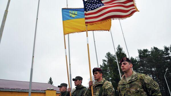 Военнослужащие 173-й бригады армии США перед началом украинско-американских командно-штабных учений Фиарлес Гардиан - 2015