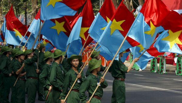 Репетиция военного парада во Вьетнаме