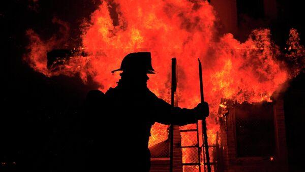 Американский пожарный. Архивное фото