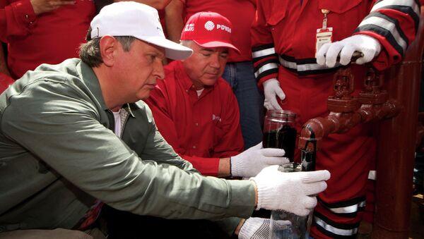 Визит главы компании ОАО НК Роснефть Игоря Сечина в Венесуэлу. Архивное фото.