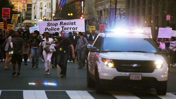 Акция протеста против насилия полиции в Вашингтоне