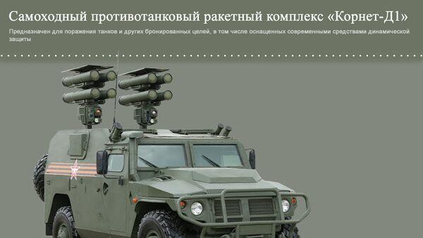 Самоходный противотанковый ракетный комплекс Корнет-Д1