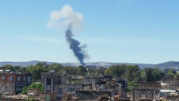 Взрыв в городе Заман, Йемен. Архивное фото