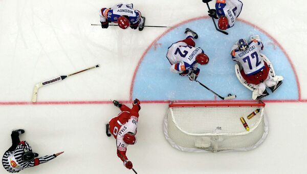 Чемпионат мира по хоккею - 2015. Сборные России и Дании