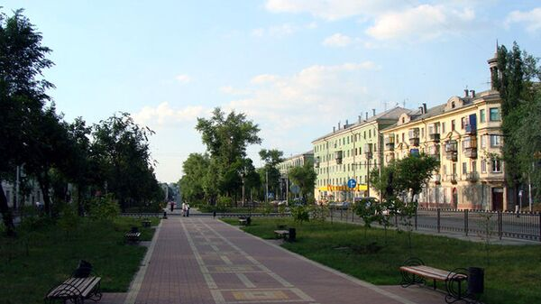 Сквер на проспекте Мира в Липецке
