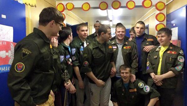 Студенческий строительный отряд из Новосибирска на строительстве космодрома Восточный. Архивное фото