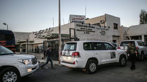 Эксперты ООН по химическому оружию в Сирии. Архивное фото