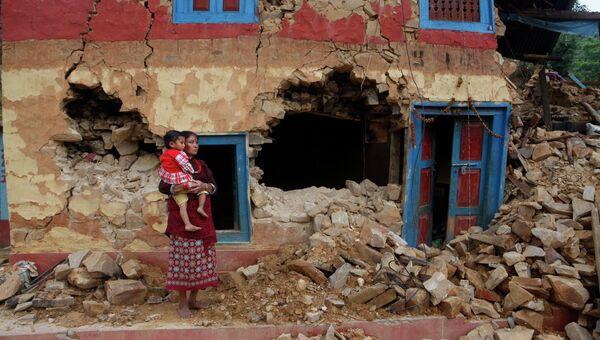 Последствия землетрясения в Непале. Архивное фото