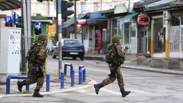 Вооруженные полицейские в Македонии. Архивное фото