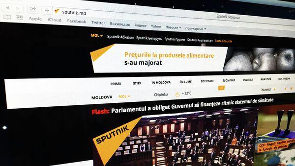 Страница сайта новостного мультимедийного агентства Sputnik на молдавском языке. Архив