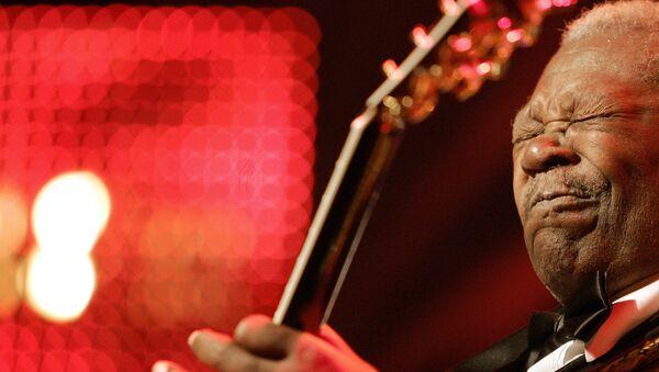 Блюз музыкант Би Би Кинг, архивное фото