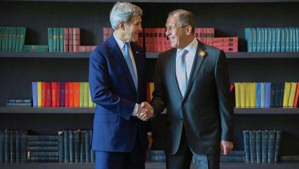 Встреча главы МИД РФ Сергея Лаврова и госсекретаря США Керри