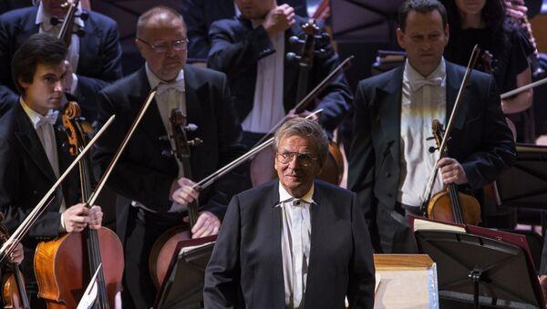 Дирижер Владимир Федосеев на концерте Большого симфонического оркестра им П.И. Чайковского