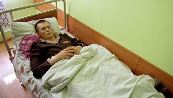 Один за задержанных на Украине российских граждан в военном госпитале Киева