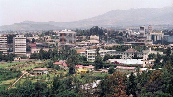 Город Аддис-Абеба, столица Эфиопии