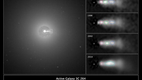 Ученым удалось создать видео столкновения выбросов из черной дыры