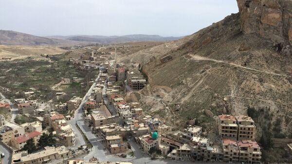 Общий вид на христианский сирийский город Маалюля