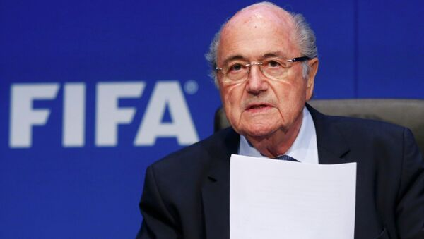 Йозеф Блаттер на заседании исполкома ФИФА, 30 мая 2015