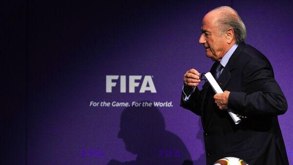 Президент ФИФА Йозеф Блаттер. 2 июня 2015