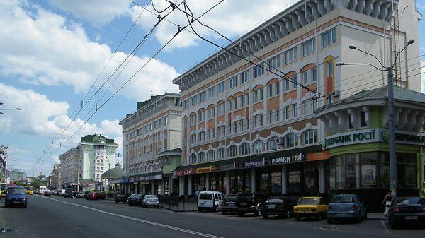 Соборная улица города Ровно, Украина