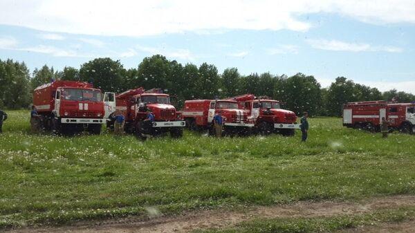 Машины пожарной охраны МЧС России. Архивное фото