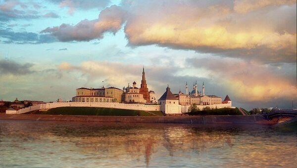 Kaзанский кремль, Kaзань. Архивное фото