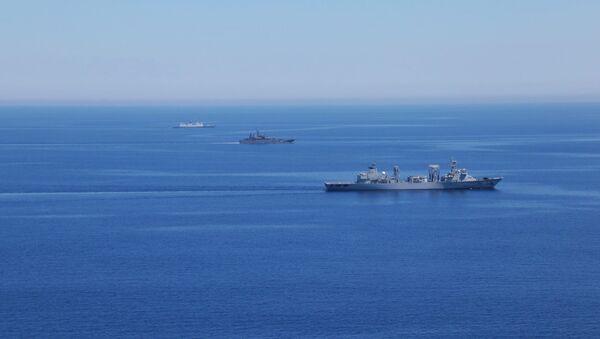 Военные учения ВМФ в Средиземном море. Архивное фото