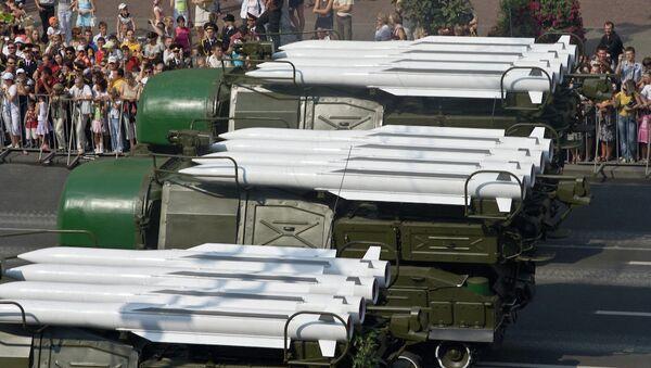 Зенитный комплекс Бук-М1 на параде в Киеве. Архивное фото