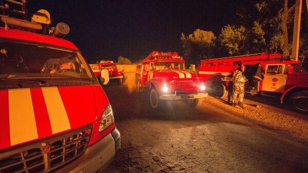 Работники пожарной службы Украины. Архивное фото