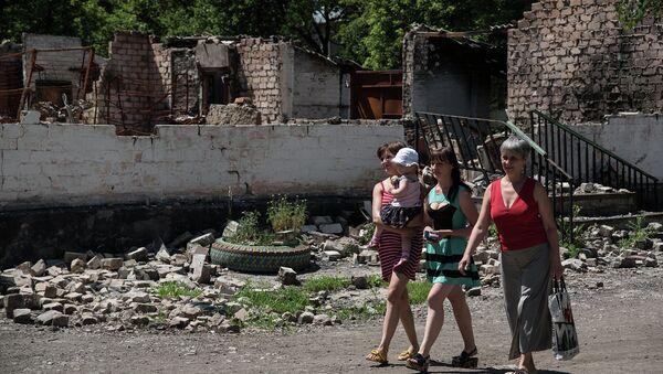 Жители деревни Новотошковское Донецкой области