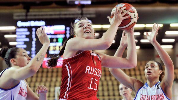 Баскетбол. Чемпионат Европы. Женщины. Матч Великобритания - Россия