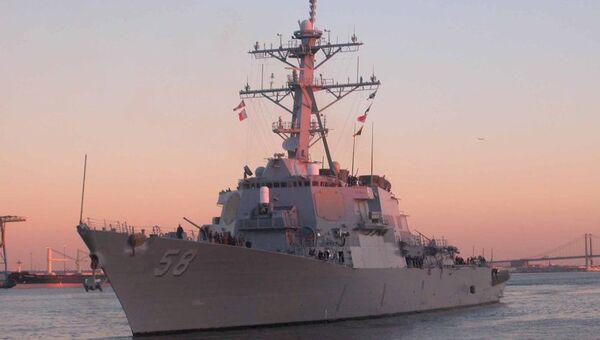 Американский эсминец Лабун. Архивное фото