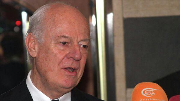 Специальный представитель генсека ООН по Сирии Стеффан де Мистура. Архивное фото
