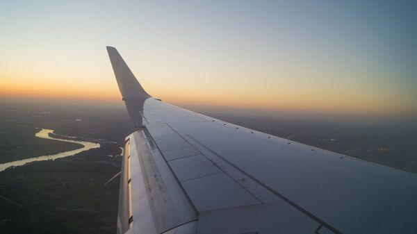 Крыло самолёта. Архивное фото