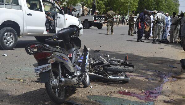 На месте взрыва в столице Чада Нджамене