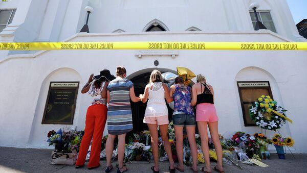 Акция памяти погибших во время стрельбы в церкви в городе Чарлстон. Архивное фото