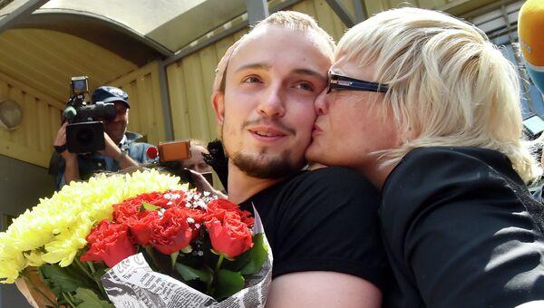 Денис Полищук, подозреваемый в убийстве украинского журналиста Олеся Бузины. Архивное фото