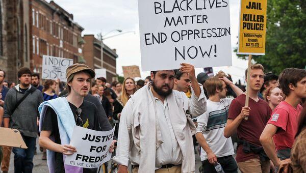 Протесты против произвола полиции в американском городе Балтиморе. Архивное фото