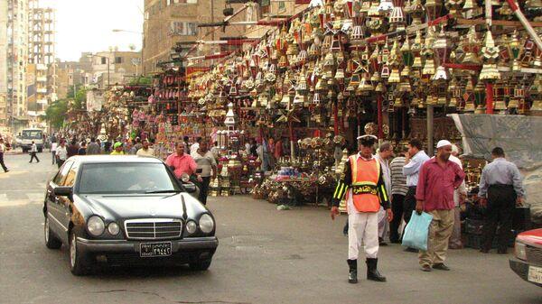 На одной из улиц Каира, Египет