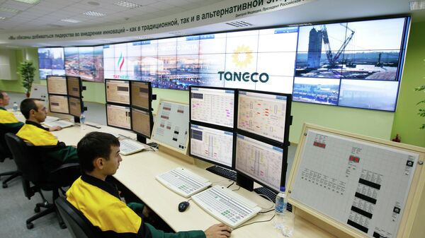 Главная операторская комплекса нефтеперерабатывающих и нефтехимических заводов ОАОТАНЕКО в Нижнекамске.